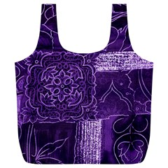 Pretty Purple Patchwork Reusable Bag (xl) by FunWithFibro