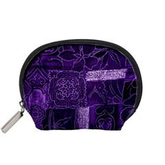 Pretty Purple Patchwork Accessory Pouch (small) by FunWithFibro