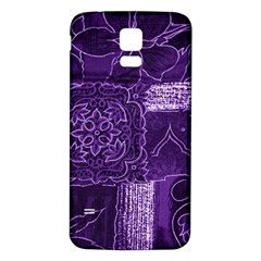 Pretty Purple Patchwork Samsung Galaxy S5 Back Case (white) by FunWithFibro