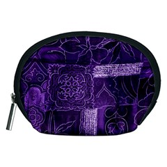 Pretty Purple Patchwork Accessory Pouch (medium) by FunWithFibro