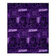 Pretty Purple Patchwork Shower Curtain 60  X 72  (medium) by FunWithFibro