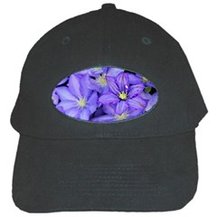Purple Wildflowers For Fms Black Baseball Cap by FunWithFibro