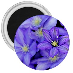 Purple Wildflowers For Fms 3  Button Magnet by FunWithFibro