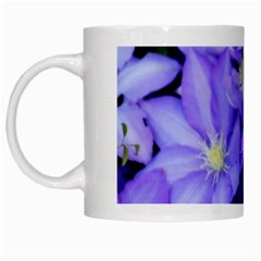 Purple Wildflowers For Fms White Coffee Mug by FunWithFibro