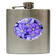 Purple Wildflowers For Fms Hip Flask by FunWithFibro