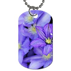 Purple Wildflowers For Fms Dog Tag (two Sided)  by FunWithFibro