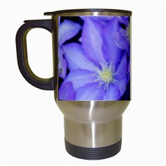 Purple Wildflowers For Fms Travel Mug (white) by FunWithFibro