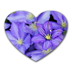 Purple Wildflowers For Fms Mouse Pad (heart) by FunWithFibro