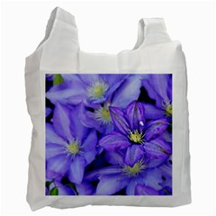 Purple Wildflowers For Fms White Reusable Bag (one Side) by FunWithFibro