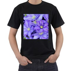 Purple Wildflowers For Fms Men s T Shirt (black) by FunWithFibro