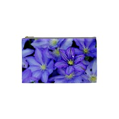 Purple Wildflowers For Fms Cosmetic Bag (small) by FunWithFibro