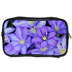 Purple Wildflowers For Fms Travel Toiletry Bag (one Side) by FunWithFibro