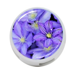 Purple Wildflowers For Fms 4-port Usb Hub (one Side) by FunWithFibro