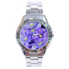 Purple Wildflowers For Fms Stainless Steel Watch by FunWithFibro