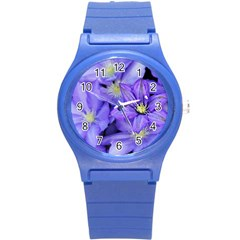 Purple Wildflowers For Fms Plastic Sport Watch (small) by FunWithFibro