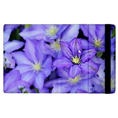 Purple Wildflowers For Fms Apple Ipad 3/4 Flip Case by FunWithFibro