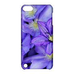 Purple Wildflowers For Fms Apple Ipod Touch 5 Hardshell Case With Stand by FunWithFibro