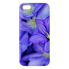 Purple Wildflowers For Fms Apple Iphone 5 Premium Hardshell Case by FunWithFibro