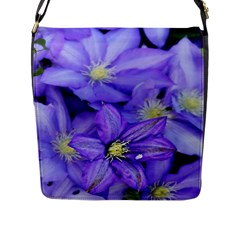 Purple Wildflowers For Fms Flap Closure Messenger Bag (large) by FunWithFibro