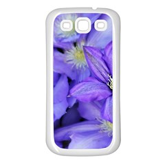 Purple Wildflowers For Fms Samsung Galaxy S3 Back Case (white) by FunWithFibro