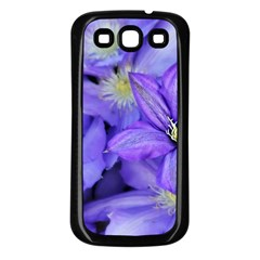 Purple Wildflowers For Fms Samsung Galaxy S3 Back Case (black) by FunWithFibro