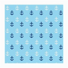 Anchors In Blue And White Glasses Cloth (medium) by StuffOrSomething