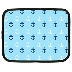 Anchors In Blue And White Netbook Sleeve (xxl)
