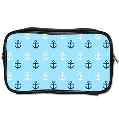 Anchors In Blue And White Travel Toiletry Bag (one Side)