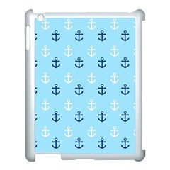 Anchors In Blue And White Apple Ipad 3/4 Case (white) by StuffOrSomething