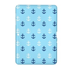 Anchors In Blue And White Samsung Galaxy Tab 2 (10 1 ) P5100 Hardshell Case  by StuffOrSomething