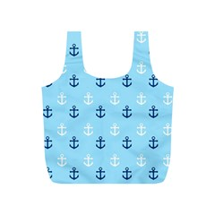 Anchors In Blue And White Reusable Bag (s) by StuffOrSomething