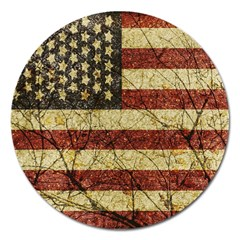 Vinatge American Roots Magnet 5  (round) by dflcprints