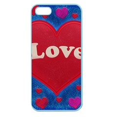 Love Theme Concept  Illustration Motif  Apple Seamless Iphone 5 Case (color) by dflcprints