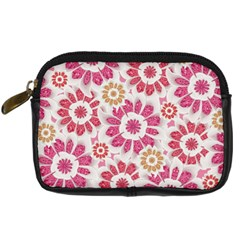 Feminine Flowers Pattern Digital Camera Leather Case by dflcprints