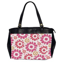 Feminine Flowers Pattern Oversize Office Handbag (two Sides) by dflcprints
