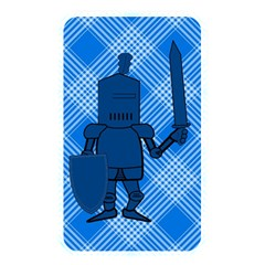 Blue Knight On Plaid Memory Card Reader (rectangular) by StuffOrSomething
