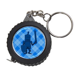 Blue Knight On Plaid Measuring Tape by StuffOrSomething