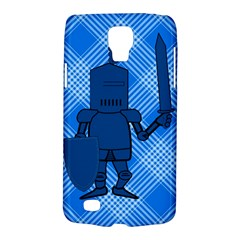 Blue Knight On Plaid Samsung Galaxy S4 Active (i9295) Hardshell Case