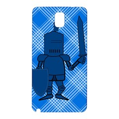 Blue Knight On Plaid Samsung Galaxy Note 3 N9005 Hardshell Back Case by StuffOrSomething