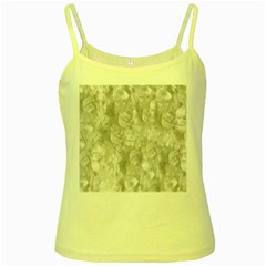 Abstract In Silver Yellow Spaghetti Tank by StuffOrSomething