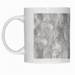 Abstract In Silver White Coffee Mug