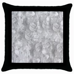 Abstract In Silver Black Throw Pillow Case by StuffOrSomething