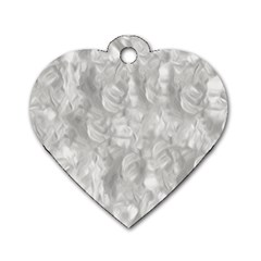Abstract In Silver Dog Tag Heart (one Sided)