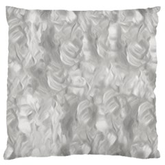 Abstract In Silver Large Cushion Case (two Sided)  by StuffOrSomething