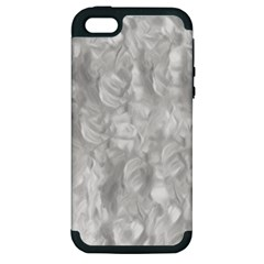 Abstract In Silver Apple Iphone 5 Hardshell Case (pc+silicone) by StuffOrSomething