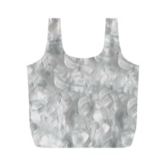 Abstract In Silver Reusable Bag (m) by StuffOrSomething