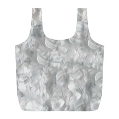 Abstract In Silver Reusable Bag (l) by StuffOrSomething
