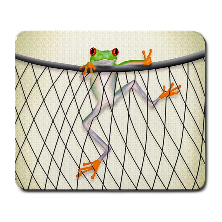 Peace Frog Large Mouse Pad (Rectangle)