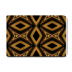 Tribal Diamonds Pattern Brown Colors Abstract Design Small Door Mat by dflcprints