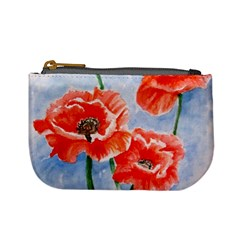 Poppies Coin Change Purse by ArtByThree
